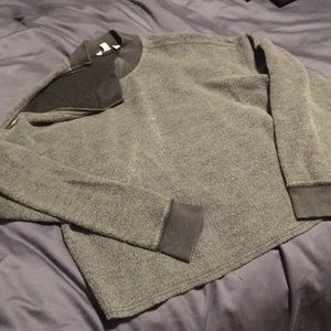 American eagle Inside-Out Zip Shoulder Sweatshirt